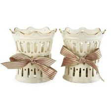 Lenox Fine China Great Giftables Pierced Ribbon Votives set of 2- New in Box