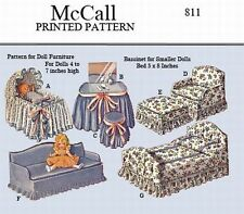 McCall 811 - Doll Furniture to make for dolls 4 to 7 inches high - looks fun!