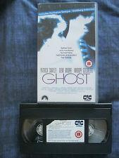 GHOST VHS VIDEO. EAN: 5014437249623. Swayze, Moore, Goldberg. Cert. 15.
