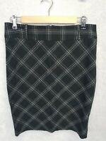 Have - Skirt With Diamond Plaid Pattern Gray With Silver Stripes -Women's Large