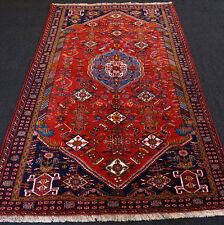 Orient Teppich Dunkelrot 254 x 160 cm Perserteppich Handgeknüpft Red Carpet Rug