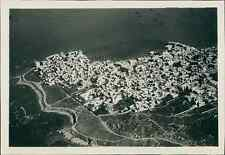 Liban, Vue aérienne de Tyr (صور), ca. 1930  Vintage silver print.  Tirage arge