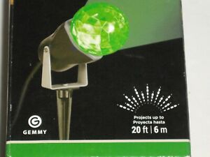 2016 Gemmy LED Lightshow Projection Kaleidoscope Green New in Box