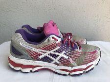 EUC Asics Gel Nimbus 17 Women's Size US 10 Running Shoes Gray Pink Purple T557N