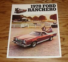 Original 1978 Ford Ranchero Foldout Sales Brochure 78
