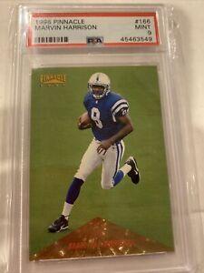 1996 Pinnacle #166 Marvin Harrison Foil PSA 9 Rookie HOF Colts