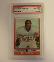 1974 Topps Football Solomon Freelon Houston Oilers #48 PSA 8