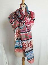 GF10/ Grand Foulard châle étole en fine soie 90% 87x195cm Fine silk 90% shawl