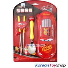 Disney Pixar Cars 3 Stainless Steel Spoon Chopsticks Case Set Children McQueen