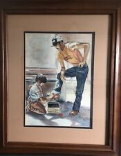 Watercolor Framed Shoeshine Boy Listed Christian Artist Professor Steve Glaze