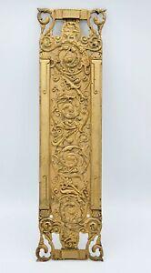 Antique Bronze Door PUSH Finger Plate Exquisite Architectural Hardware RH Co