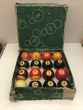 "Set of Vintage Belgian Amarith Billiard Pool Balls 2"" - Boxed"