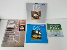 FIAT CAR SALES BROCHURES x4 MIXED LOT 128 132 ALL USED CONDITION