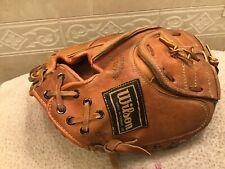 "Wilson Carlton Fisk 30"" Youth Baseball Catchers Mitt Right Hand Throw"
