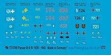 Peddinghaus 1/72 0769 chars III et chars IV Décalques 1939-45