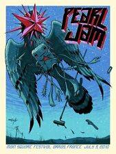 Jeff Soto Arras France Pearl Jam Poster Show ed 7/3/10 Town Square Tyler Stout