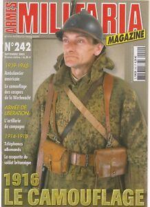 MILITARIA N°242 CAMOUFLAGE 1916 / AMBULANCIER US / TELEPHONE ALLEMAND 14-18