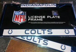 2 - Indianapolis Colts Blue Metal Auto License Plate Frames