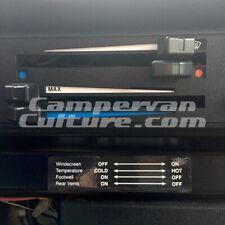 VW T25 T3 & Vanagon Heater Control Sticker