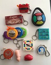 Key Chains Variety Lot 10 Games View Master Pig Duncan YoYo Simon Says Vintage