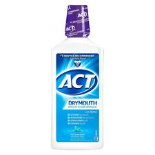 ACT DryMouth Anticavity Rinse, Soothing Mint, 33.8 oz (2 Pack)