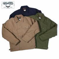 Vintage Navy A2 Deck Jacket Mens Winter Military Combat Thick Fleece Jacket Coat