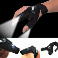 Finger Glove with LED Light Flashlight Tools Outdoor Gear Rescue Night Fis Ullm