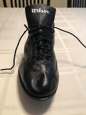 Vintage Wilson Black Leather Metal Baseball Cleat Size9 *Single Shoe* Right Foot