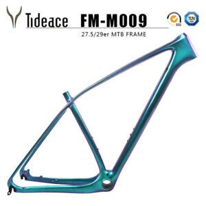 2020 Tideace Carbon Fiber Mountain Bicycle Frames Chameleon Green Glossy 29er