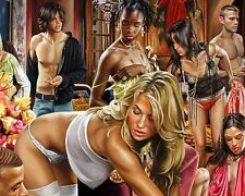 Art Quality Canvas Print,Oil Painting SEX & MONEY WILL KILL YOU 16×20