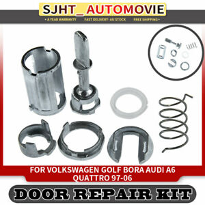 7x Door Lock Cylinder Barrel Repair Kit fit Volkswagen Golf Bora Audi A6 Quattro