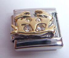 CANCER Italian Charm CLEAR GEMS Crystals Horoscope Zodiac Symbol - 9mm Classic