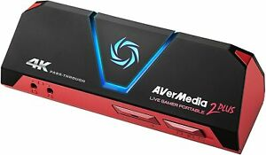 AVerMedia Live Gamer Portable 2 Plus USB 4K Game Capture Record Stream Xbox PC