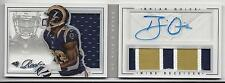 BRIAN QUICK 2012 PLAYBOOK ACETATE BOOK 3 COLOR NAMEPLATE PATCH AUTO RC #D 68/149