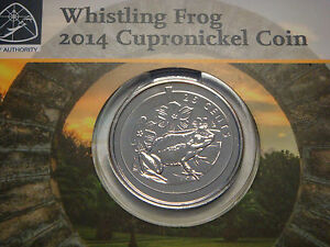 Bermuda 25 cents , 2014, WHISTLING FROG , 2,000 MINT, RARE