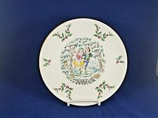 Royal Doulton VICTORIAN CHRISTMAS 1977 Skater Collector Plate 8 1/4""