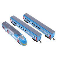 HO Scale Train Locomotive & Carriage Freight Wagon Model Toy Railway Scenery