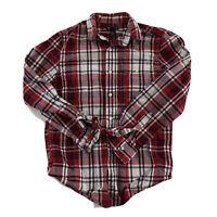 Gap Slimfit Long Sleeve Plaid Shirt Men's Size S Red White Blue