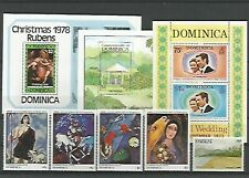 13258/ Karibik LOT ** MNH DOMINICA KUNST
