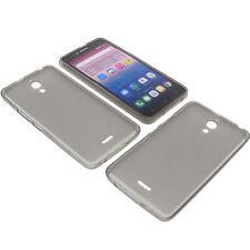 Funda para Alcatel Pixi 4 6.0 3g Funda protectora de móvil TPU GOMA FUNDA GRIS