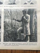Original 1880 National Police Gazette Outlaw Ned Kelly Killed newspaper Old west