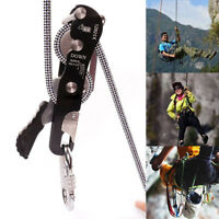 Stop Descender Self-Braking Climb Rescue Rappel Belay Device For 10-12mm Rope~~