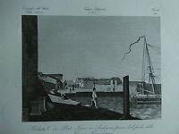 1845 Zuccagni-Orlandini Veduta di Porto Torres in Sardegna dal piede della Torre