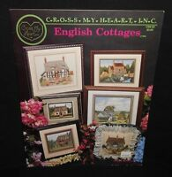 Cross My Heart Cross Stitch Chart ENGLISH COTTAGES Leaflet #CSB-59 6 Different