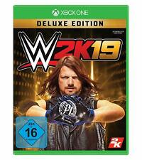 Xbox One Game Wwe 2K19 Deluxe Edition Wrestling 2019 New