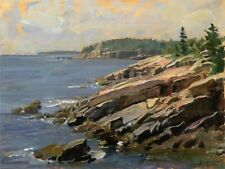 John Stobart Print - Bar Harbor: At the Edge of Acadia National Park