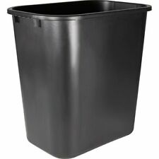 Sparco 7 Gallon Plastic Wastebaskets, Black, 24 Trash Cans (Spr02160Ct)