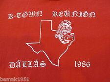 Kaiserslautern Germany High School K-Town Reunion Dallas 1986 T Shirt Adult L