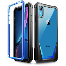 For Apple iPhone XR Poetic Guardian w/ Built-in-Screen Protector Case Blue