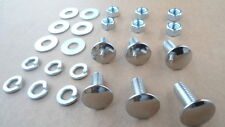 6 OLD SCHOOL STAINLESS STEEL BUMPER BOLTS/NUTS! SHOW QUALITY! ALL GM CARS 8408GX